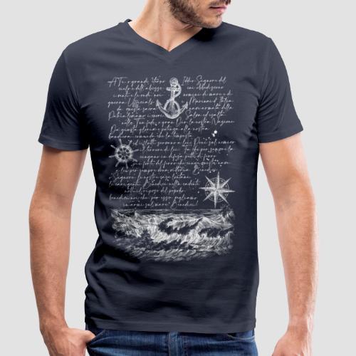 Preghiera del marinaio - T-shirt ecologica da uomo con scollo a V di Stanley & Stella