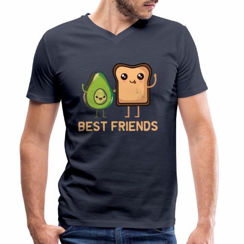 Avocado-Toast Shirt für Avocado-Liebhaber - Männer Bio-T-Shirt mit V-Ausschnitt von Stanley & Stella