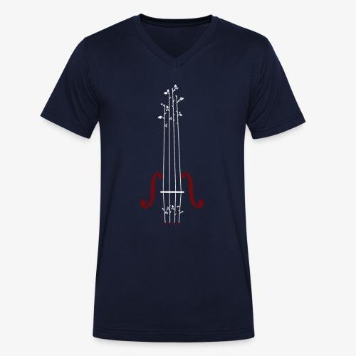 Viool Design - Mannen bio T-shirt met V-hals van Stanley & Stella