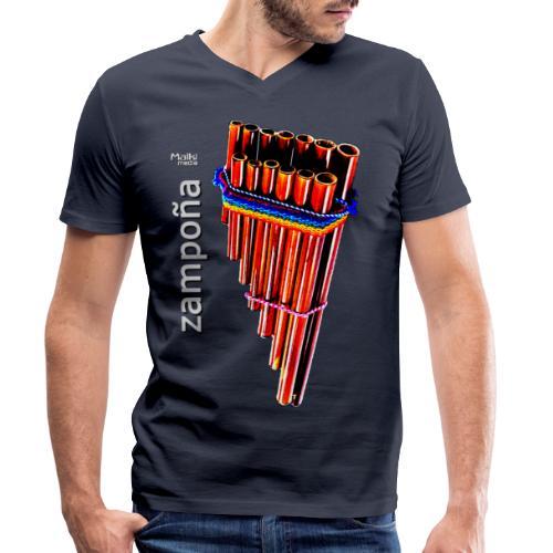 Zampoña - Männer Bio-T-Shirt mit V-Ausschnitt von Stanley & Stella