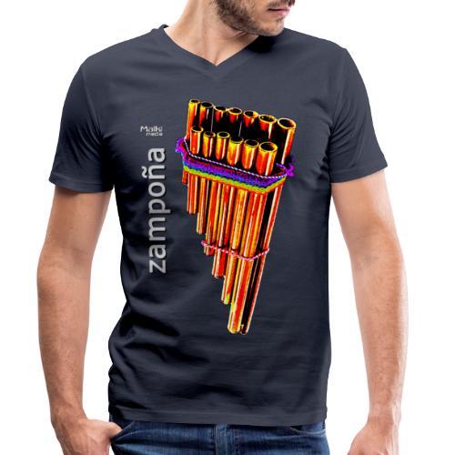 Zampoña clara - Men's Organic V-Neck T-Shirt by Stanley & Stella
