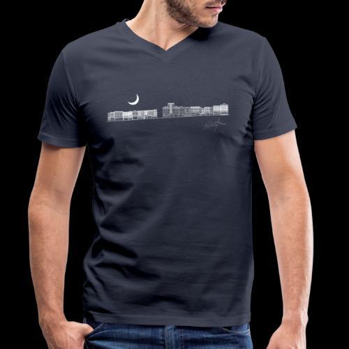 D21 El Eje Montera V1 W - Camiseta ecológica hombre con cuello de pico de Stanley & Stella