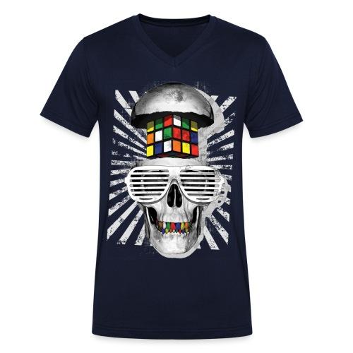 Rubik's Skull Cube - Men's Organic V-Neck T-Shirt by Stanley & Stella
