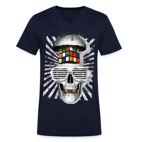 Rubik's Skull Cube - Ekologisk T-shirt med V-ringning herr från Stanley & Stella