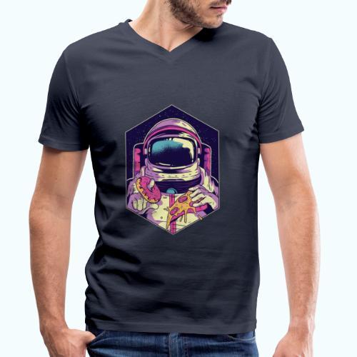Fast food astronaut - Men's Organic V-Neck T-Shirt by Stanley & Stella