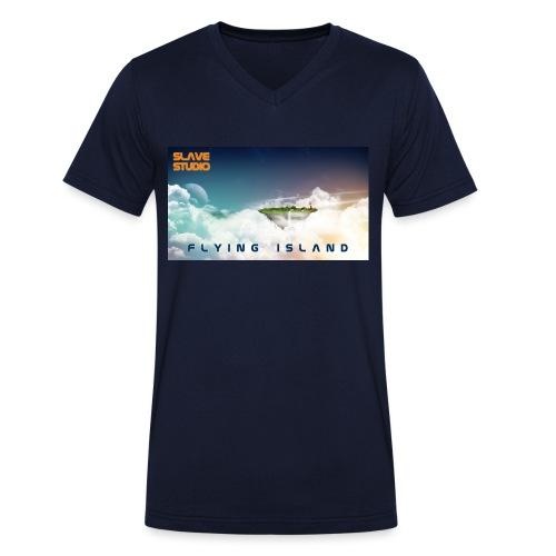 flying island - T-shirt ecologica da uomo con scollo a V di Stanley & Stella