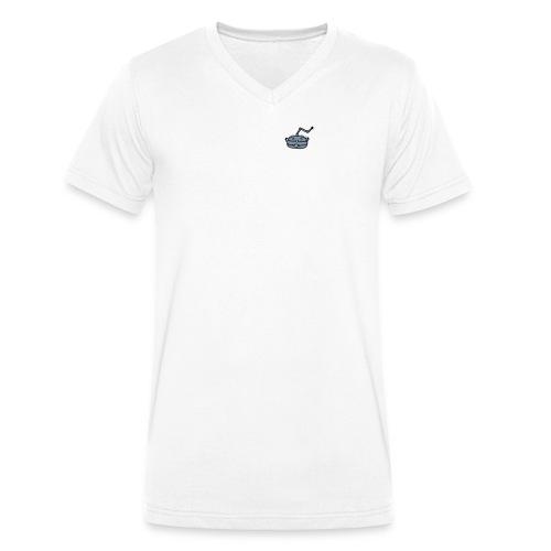 logolomoco3cweiss - Männer Bio-T-Shirt mit V-Ausschnitt von Stanley & Stella