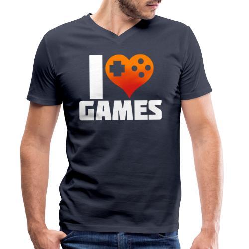I <3 Games - Männer Bio-T-Shirt mit V-Ausschnitt von Stanley & Stella