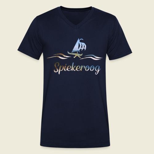 Spiekeroog Nordsee Urlaub Strand Meer - Männer Bio-T-Shirt mit V-Ausschnitt von Stanley & Stella