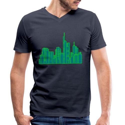 Città di Francoforte 2 - T-shirt ecologica da uomo con scollo a V di Stanley & Stella
