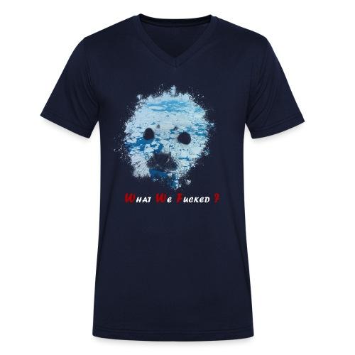 Extinction phoque - T-shirt bio col V Stanley & Stella Homme