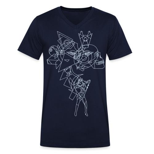 Vibrant light - Mannen bio T-shirt met V-hals van Stanley & Stella