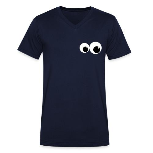 eyes2 - T-shirt ecologica da uomo con scollo a V di Stanley & Stella