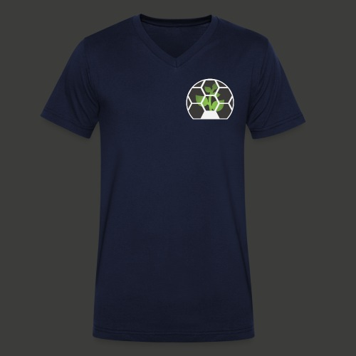 Biosphere Patch - Men's Organic V-Neck T-Shirt by Stanley & Stella