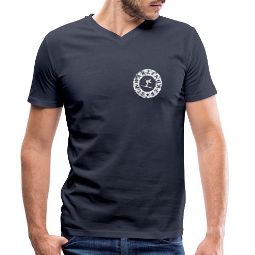 Schwarzfahrer Ski Skifahrer - Männer Bio-T-Shirt mit V-Ausschnitt von Stanley & Stella