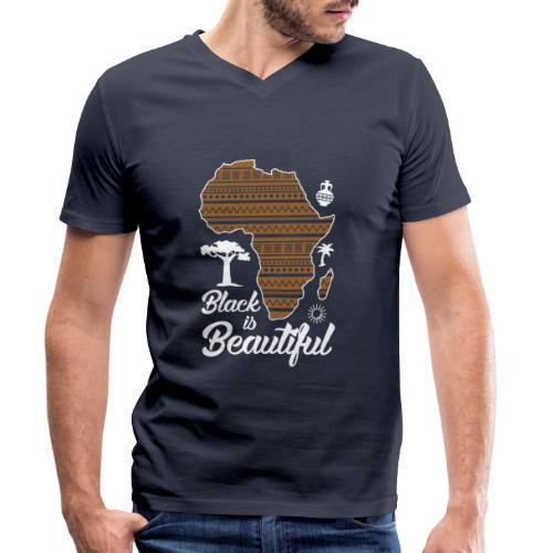 Afrika Africa - stolzer Afrikaner afro afrikanisch - Männer Bio-T-Shirt mit V-Ausschnitt von Stanley & Stella