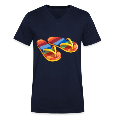 Flip flops - bio - Mannen bio T-shirt met V-hals van Stanley & Stella
