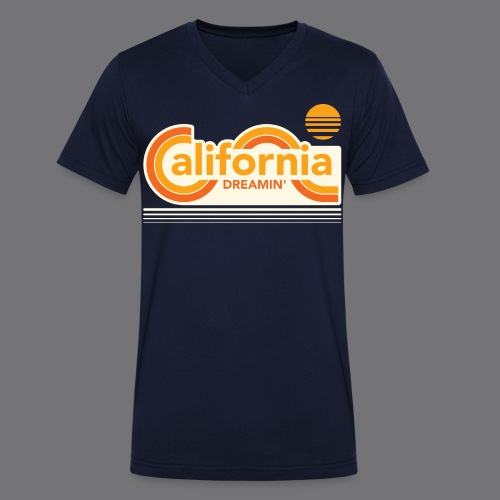 CALIFORNIA DREAMIN Tee Shirts - Men's Organic V-Neck T-Shirt by Stanley & Stella