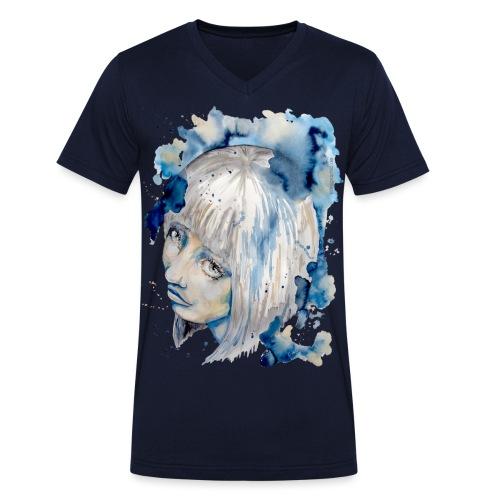 Nieves watercolorpainting by carographic - Männer Bio-T-Shirt mit V-Ausschnitt von Stanley & Stella
