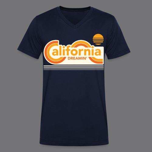CALIFORNIA DREAMIN Tee Shirts - Men's Organic V-Neck T-Shirt by Stanley & Stella
