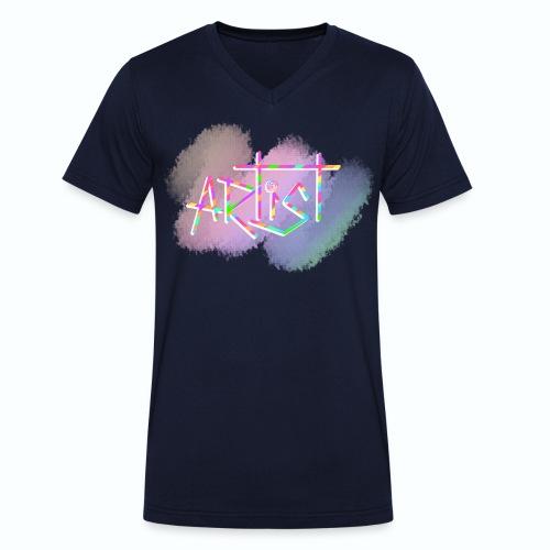 Artist in Colors - Camiseta ecológica hombre con cuello de pico de Stanley & Stella