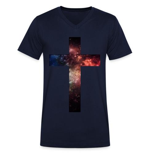 Cross Galaxy - Mannen bio T-shirt met V-hals van Stanley & Stella