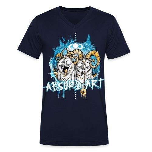 Karl & Bob von Absurd ART - Männer Bio-T-Shirt mit V-Ausschnitt von Stanley & Stella