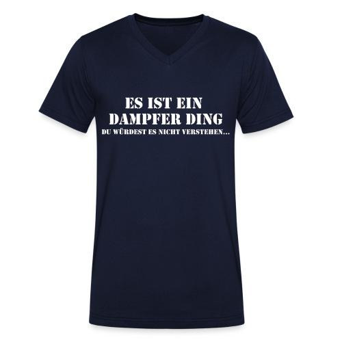 Dampfer Ding - Männer Bio-T-Shirt mit V-Ausschnitt von Stanley & Stella