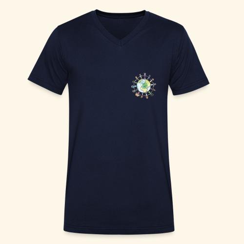 erde menschen - Männer Bio-T-Shirt mit V-Ausschnitt von Stanley & Stella