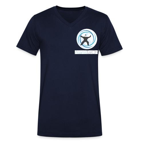 texte - T-shirt bio col V Stanley & Stella Homme