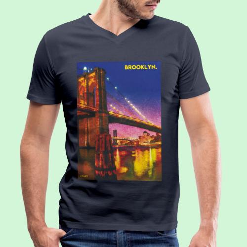 Brooklyn Bridge - Männer Bio-T-Shirt mit V-Ausschnitt von Stanley & Stella