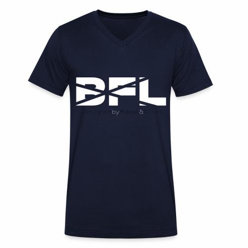 BFLbeidesgeil - Männer Bio-T-Shirt mit V-Ausschnitt von Stanley & Stella