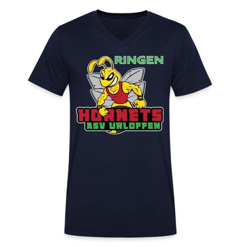 ASV_Hornets_dark - Männer Bio-T-Shirt mit V-Ausschnitt von Stanley & Stella