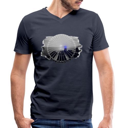 PS 003 Ferris Wheel (grey/blue) - Økologisk Stanley & Stella T-shirt med V-udskæring til herrer
