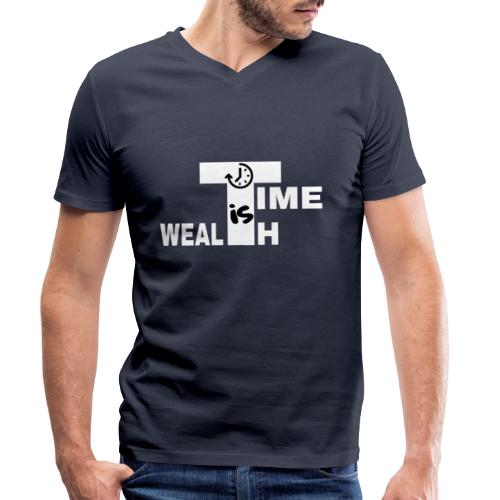 TIME IS WEALTH - T-shirt bio col V Stanley & Stella Homme