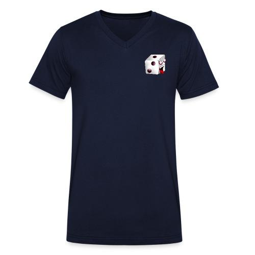 TBG - Logo + Würfelzilla (R) - Männer Bio-T-Shirt mit V-Ausschnitt von Stanley & Stella