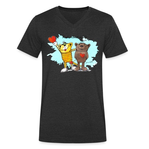 Janosch Tiger Und Bär Beste Freunde Liebe - Männer Bio-T-Shirt mit V-Ausschnitt von Stanley & Stella