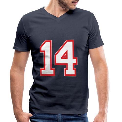 DANNIEB 14 - T-shirt ecologica da uomo con scollo a V di Stanley & Stella