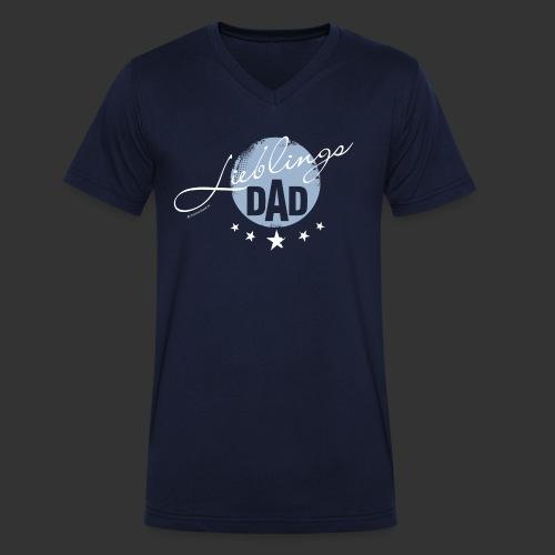 Vatertag - Männer Bio-T-Shirt mit V-Ausschnitt von Stanley & Stella