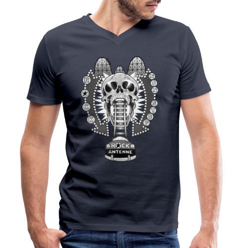 ROCK ANTENNE Rock 'n' Rollercoaster / schwarz-weiß - Männer Bio-T-Shirt mit V-Ausschnitt von Stanley & Stella