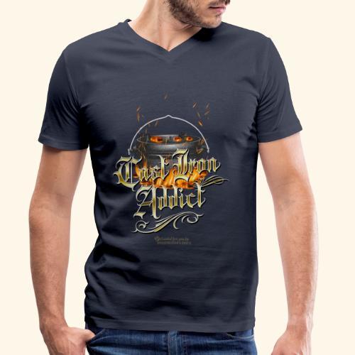Cast Iron Addict - Männer Bio-T-Shirt mit V-Ausschnitt von Stanley & Stella