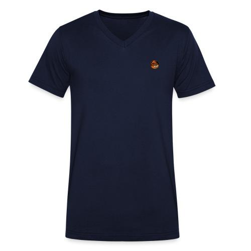 tanuki master - Men's Organic V-Neck T-Shirt by Stanley & Stella
