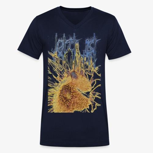Jetzt ist Sommer - Männer Bio-T-Shirt mit V-Ausschnitt von Stanley & Stella