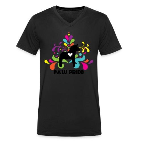 Logotyp med text - Ekologisk T-shirt med V-ringning herr från Stanley & Stella