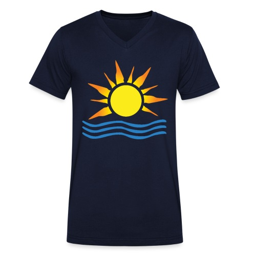 Ashra Sunrise - Men's Organic V-Neck T-Shirt by Stanley & Stella