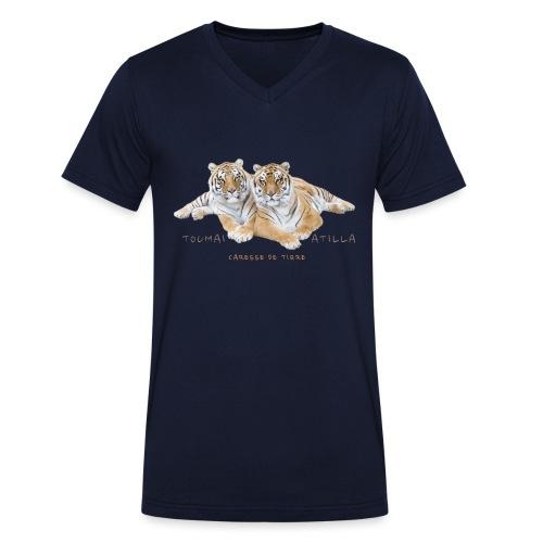 Toumaï et Atilla - T-shirt bio col V Stanley & Stella Homme