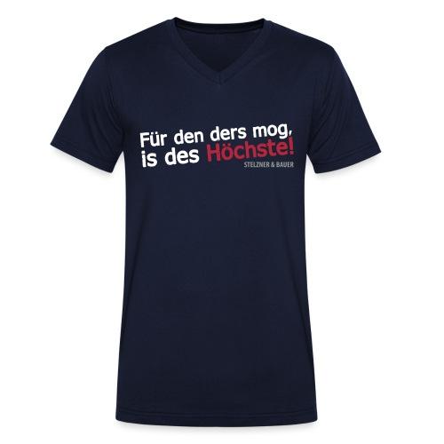 ders mog, is des Höchste! - Männer Bio-T-Shirt mit V-Ausschnitt von Stanley & Stella