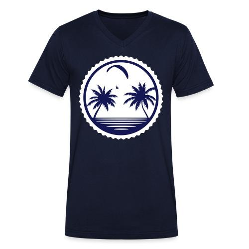 Paragliding Beach - Männer Bio-T-Shirt mit V-Ausschnitt von Stanley & Stella