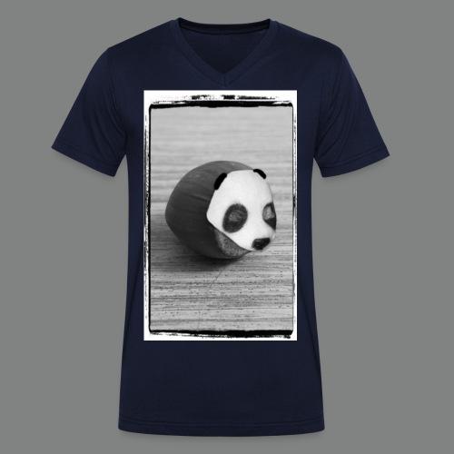 pandanuss2015graurahmenwhite2 - Männer Bio-T-Shirt mit V-Ausschnitt von Stanley & Stella