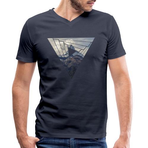 Matterhorn Zermatt Dreieck Design - Männer Bio-T-Shirt mit V-Ausschnitt von Stanley & Stella
